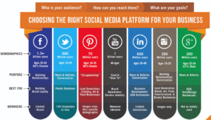 The differences between multiple social media platforms (Image Source)