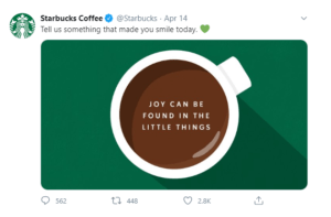 Starbucks' National Coffee Day campaign (Image Source)